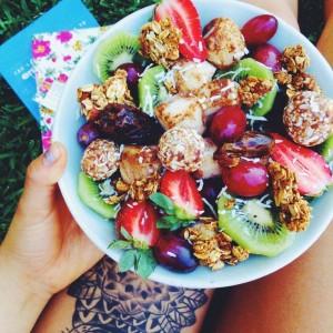 ovocny salat s proteinom