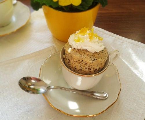 citronovy makovy mug cake
