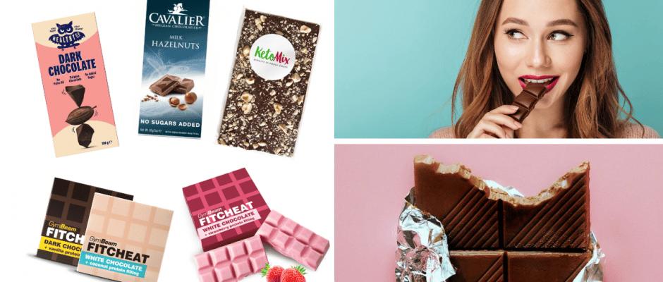 fitness cokolada tipy