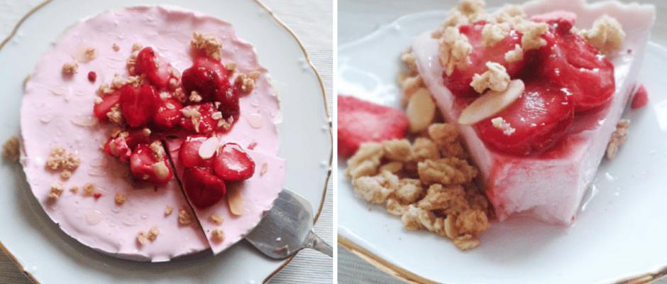 fitness jogurtový cheesecake