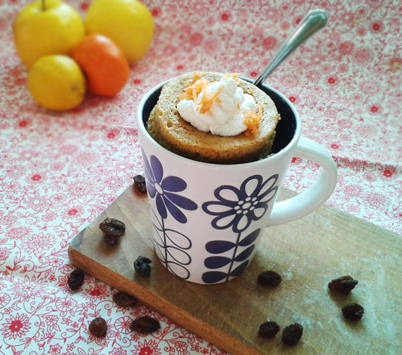 mrkvovy mug cake